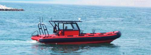 Diving rigid inflatable boat